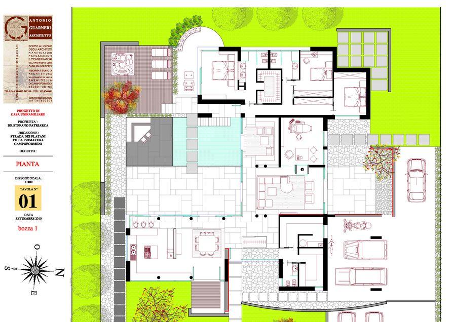 Pin progetti di ville progettisti moderne on pinterest for Progetti di case moderne